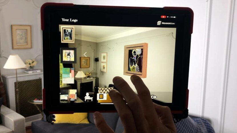 Art Online In Augmented Reality